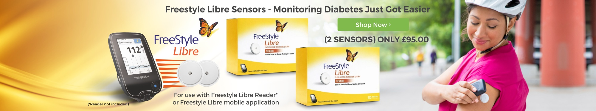 Freestyle Libre Sensors - Monitoring Diabetes Just Got Easier. 2 Sensors only �95.00