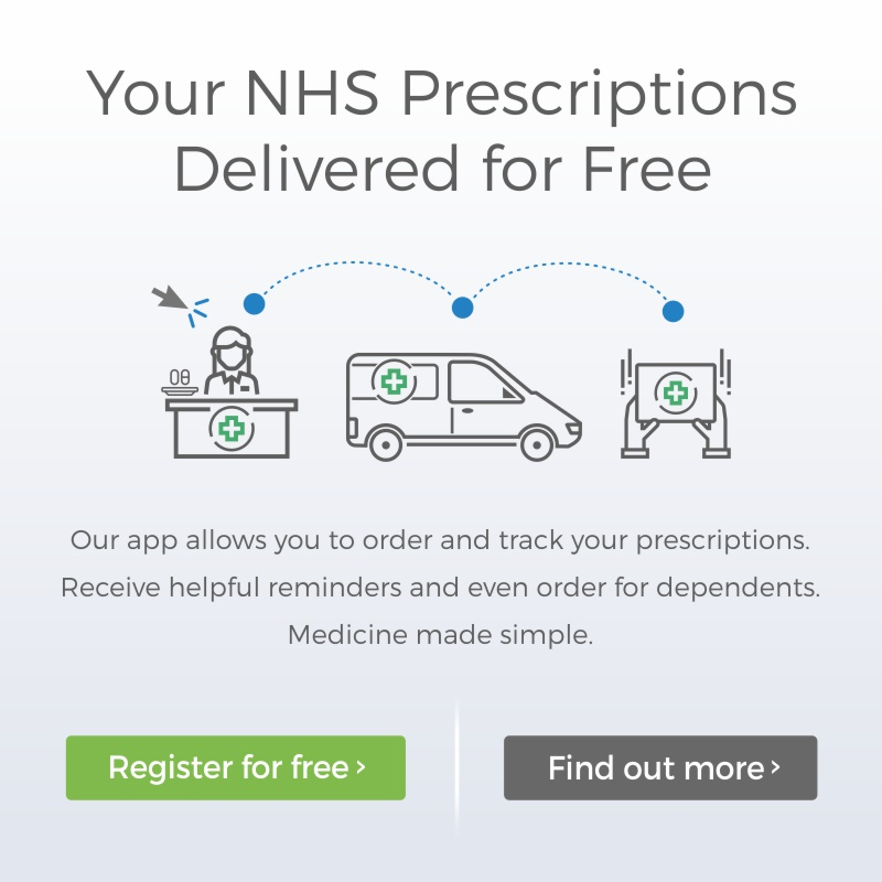 Medicine made simple, free NHS prescriptions delivery, register today