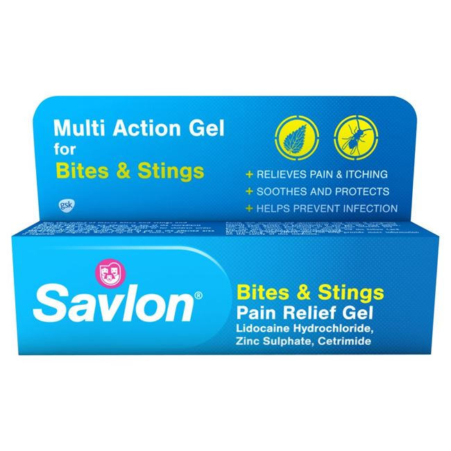 Savlon bite and stings (Lidocaine Hydrochloride, Zinc Sulphate and Cetrimide) gel 20g