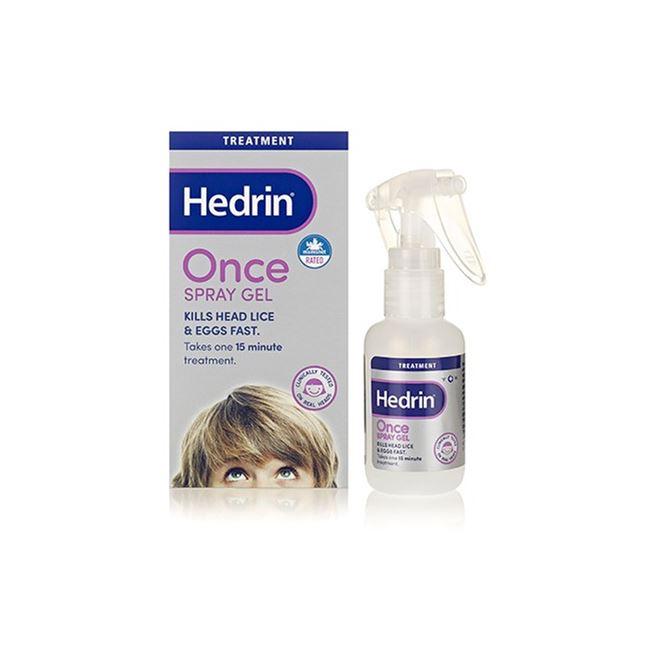 Hedrin Once Spray Gel