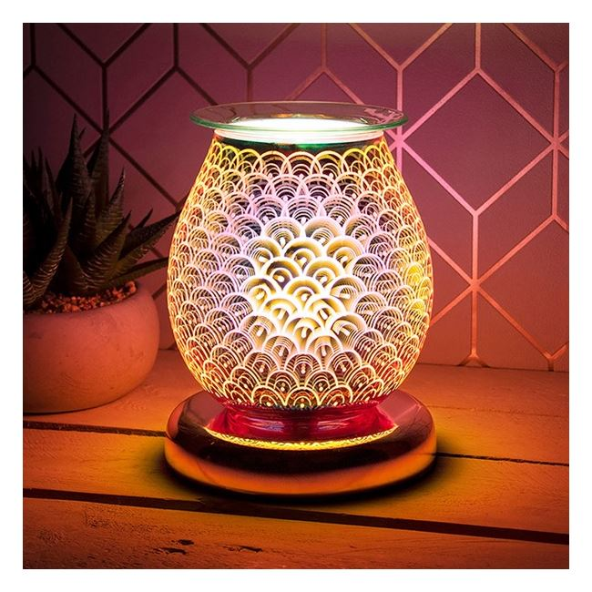 Aromatherapy 3D Rose Gold Bulb Lamp