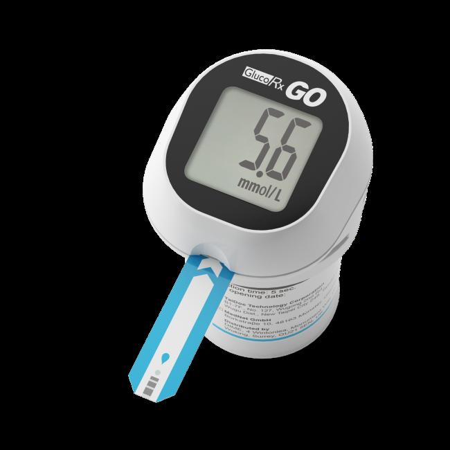 GlucoRx GO Blood Glucose Monitoring Device