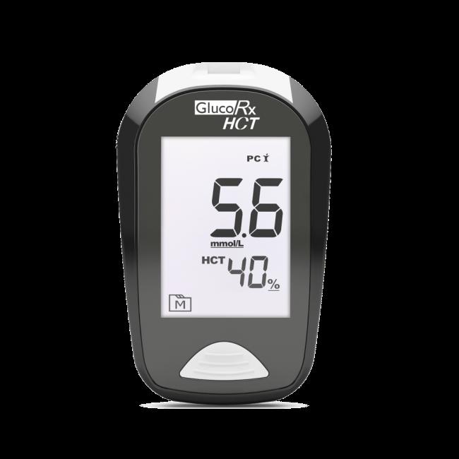 GlucoRx HCT Blood Glucose Monitoring Device