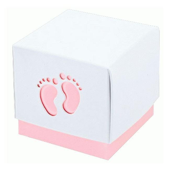 Baby Pink Footprint Favour Box (10)