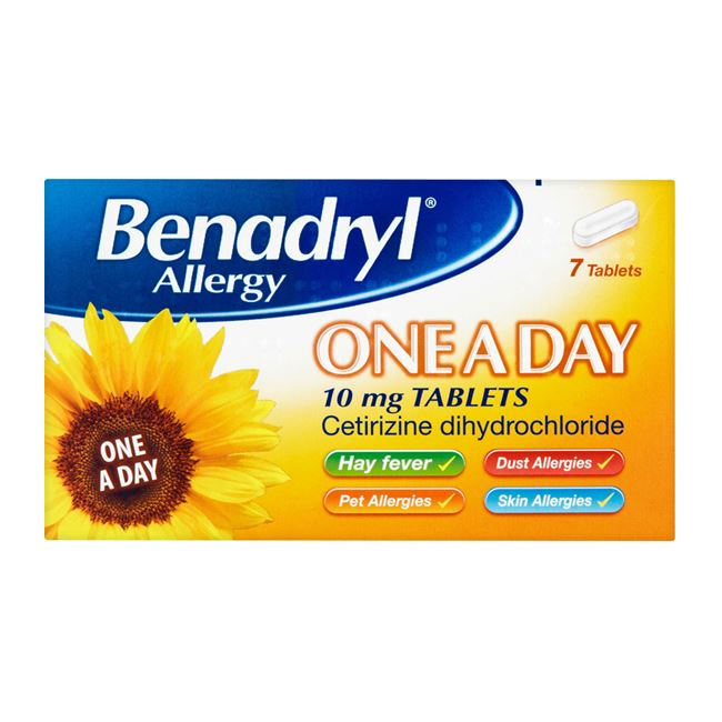 Benadryl Allergy One A Day 10mg Tablets