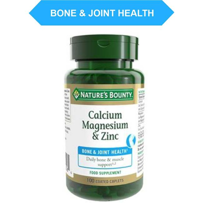 Nature's Bounty Calcium Magnesium and Zinc Caplets 100