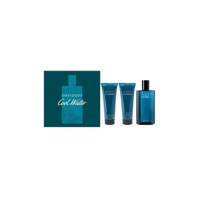 Davidoff Cool Water 125ml Aftershave, 75ml Shower gel and Aftershave balm gift set