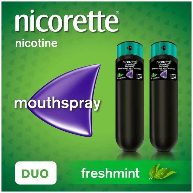 Nicorette QuickMist Freshmint Duo Mouthspray 2 x 150