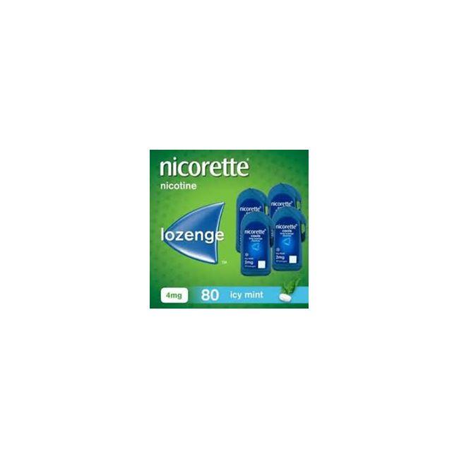 Nicorette 4mg cools Icy Mint 80 Lozenges