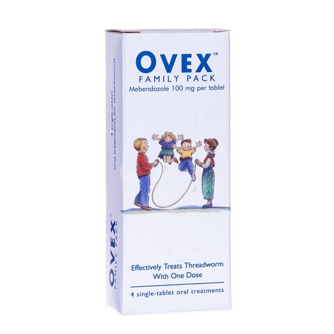 Ovex 100mg Chewable Tablets Family Pack (4)