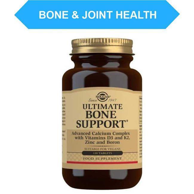 Solgar Ultimate Bone Support (calcium, magnesium, boron, zinc, manganese, copper and vitamin K2 and D3) Tablet 120