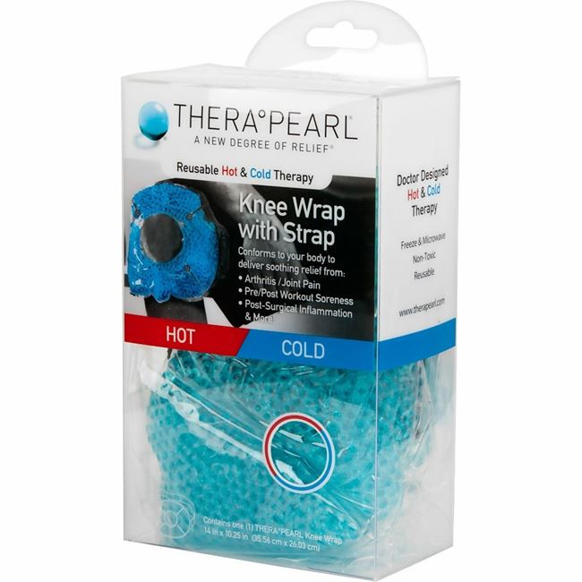 Reusable Knee Wrap with Strap Hot or Cold Therapy