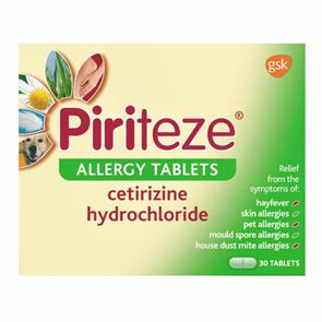 Piriteze 10mg Tablets 30