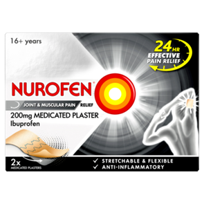 Nurofen (Ibuprofen) 200mg Medicated Plaster Pack of TWO