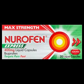 Nurofen (Ibuprofen) 400mg Express Liquid Capsules 20
