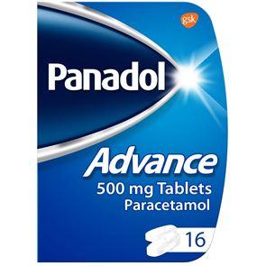 Panadol (Paracetamol) Advance 500mg Tablets 16