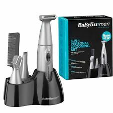 BaByliss MEN 7040CU 6 in 1 Face Trim & Tidy Battery Powered Grooming Set