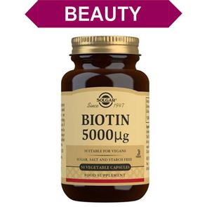 Solgar Biotin 5000 ug Vegetable Capsules 50