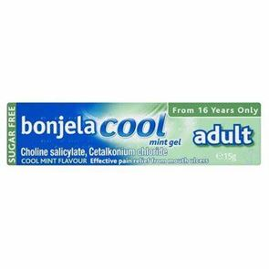 Bonjela Cool Mint Gel  (cetalkonium chloride, choline salicylate) gel 15g