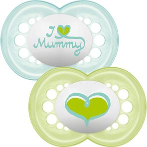 MAM Style 6+ Months Silicone Soother I Love Mummy (2)