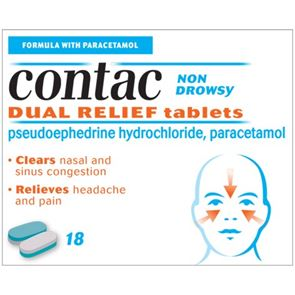 Contac Non-Drowsy Dual Relief Tablets 18