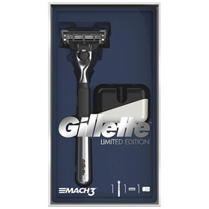 Gillette Mach 3 Limited Edition Chrome Razor Gift Set with Stand