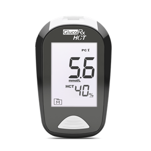GlucoRx HCT Blood Glucose Monitoring Device