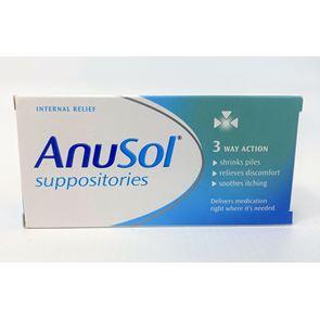 Anusol (zinc oxide, bismuth subgallate, balsam peru, bismuth oxide) suppository 24