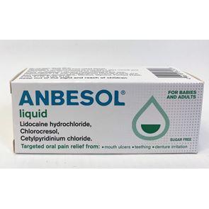 Anbesol Liquid (chlorocresol, cetylpyridinium chloride, lidocaine hydrochloride) liquid 10ml