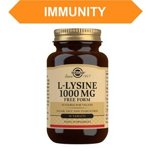 Solgar L-Lysine 1000 mg Free Form Tablets 50