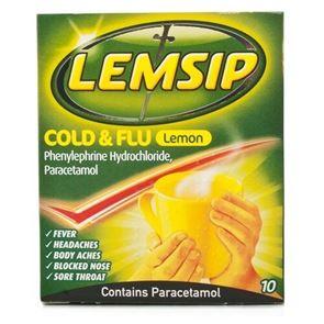 Lemsip Max Cold & Flu Lemon Sachets 10