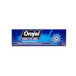 Orajel (benzocaine)10% w/w gel 5.3g