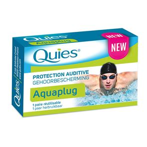 Quies Aquaplug Ear Auditive Protection 1 Reusable Pair