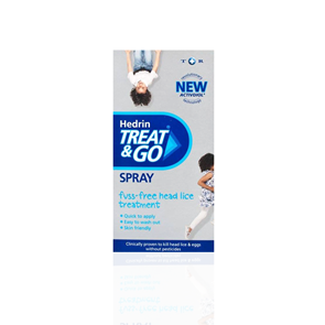 Hedrin Treat and Go Head Lice Spray 60ml