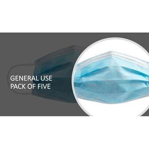 Disposable Protective Face Mask pack of 5