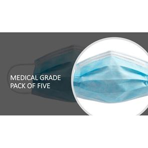 Medical Grade Disposable Protective Face Mask pack of 5