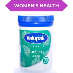 Valupak Herbal Cranberry 2000mg Tablets 30