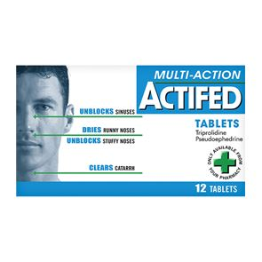 Actifed Multi-action Tablets 12