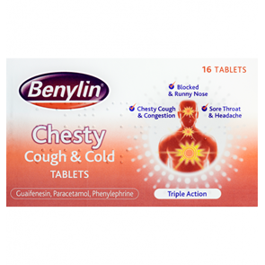 Benylin Chesty Cough and Cold Tablets 16