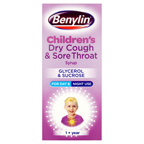 Benylin Children's Dry Cough & Sore Throat Syrup 125ml