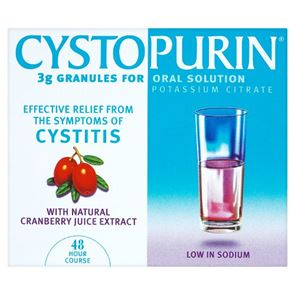 Cystopurin (Potassium Citrate) 3g Granules for oral solution 6 sachets