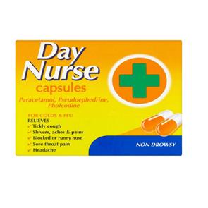 Day Nurse (Paracetamol, Pseudoephedrine Hydrochloride, Pholcodine) capsules 20