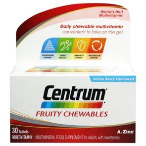 Centrum Fruity Chewable Tablets 30
