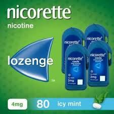 Nicorette 4mg cools Icy Mint 80 Lozenges