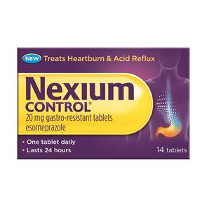 Nexium Control (esomeprazole) 20mg gastro resistant tablets 14