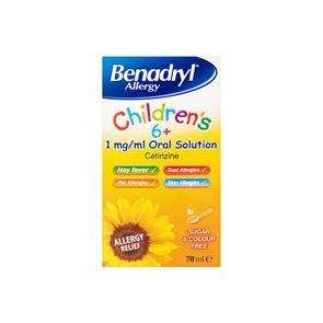Benadryl Allergy Children's 6+ years Oral Solution 70ml