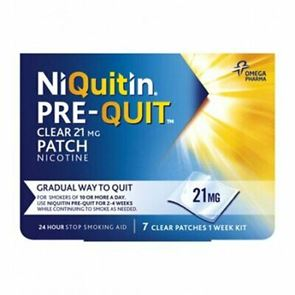 NiQuitin Pre Quit Clear 21mg Smoking Patches (7)