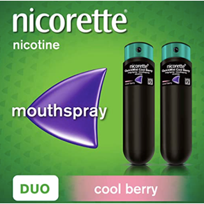 Nicorette QuickMist Cool Berry Duo Mouthspray 2 x 150