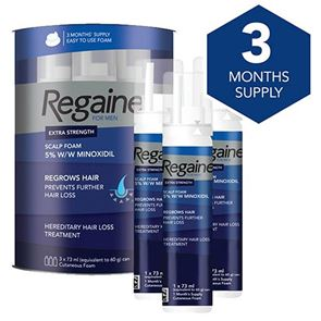 Regaine for Men 5% Minoxidil Extra Strength Scalp Foam THREE month supply