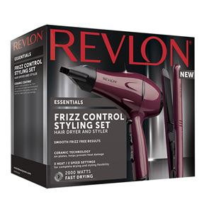 Revlon Frizz Control Styling Set Hairdryer & Straightener RVDR5230UK